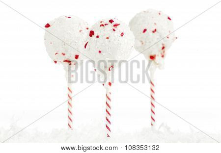Christmas Peppermint Cake Pops