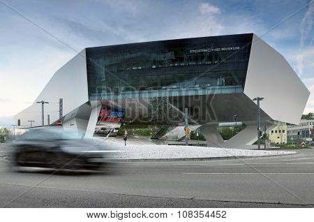 Porsche museum  in Stuttgart, Germany