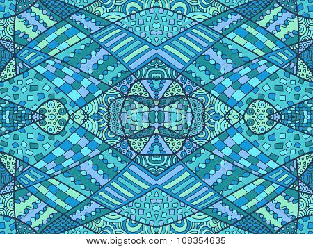 Zentangle Abstract Background Blue