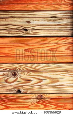 Texture - old wooden boards of brown color