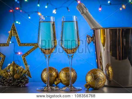 Celebration theme. Champagne wine