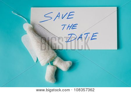 Felt Angel With Message Save The Date