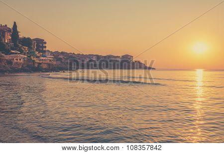 Sunrise In Sozopol, Bulgaria