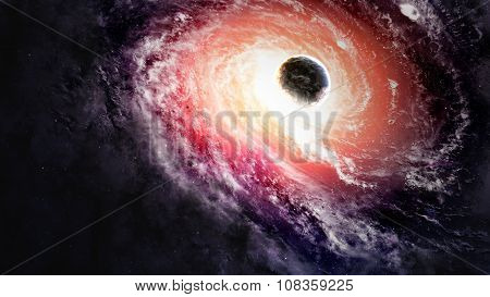 Black hole in space. Elements of this image furnished by NASA