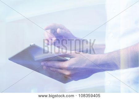 Person Using Tablet Device