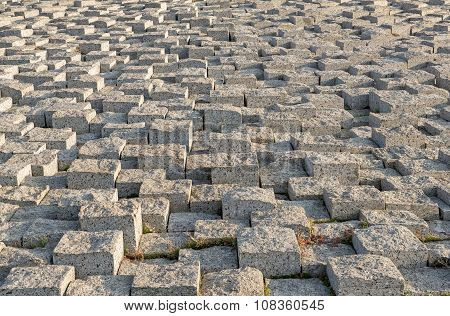 Stacked Stone Pavement With Different Height.
