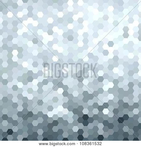 Metal Silver Honeycomb Grid Geometric Background