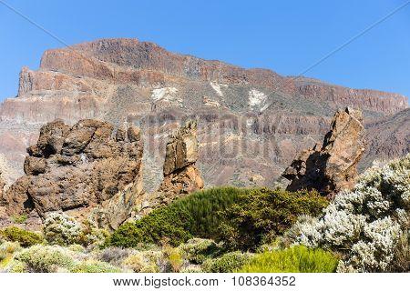 Roques De Garcia, Teide National Park, Tenerife, Canary Islands, Spain