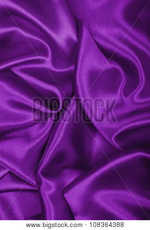Smooth Elegant Lilac Silk Or Satin Texture As Background