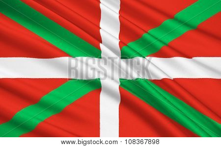 The Flag Of The Basque Country, Spain