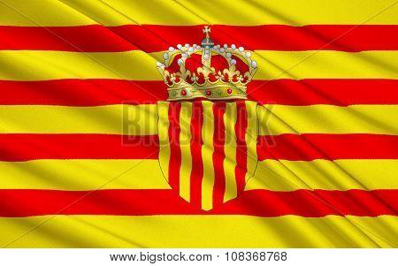 Flag Senyera - Pattern Is Nowadays In The Flag Of Four Spanish Autonomous Communities Catalonia, Ara