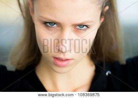 Pretty Girl Looking Upgaze