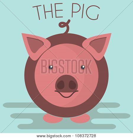 Pig Mascot Illustration