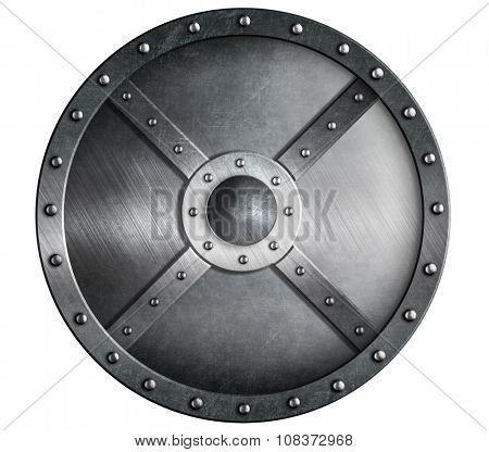 black metal round shield