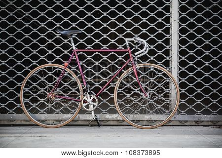 City Bicycle And Garage Door, Vintage Style