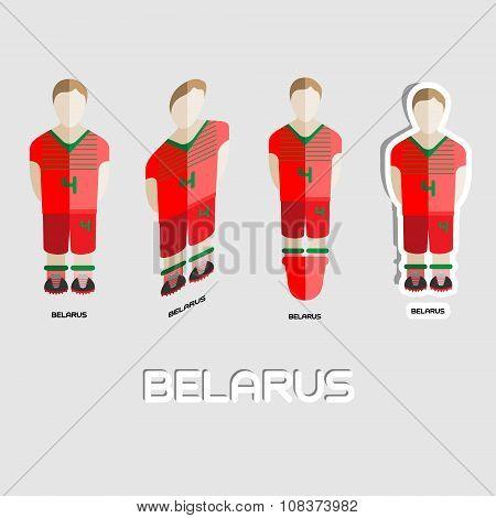 Belarus Soccer Team Sportswear Template