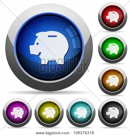 Piggy Bank Button Set