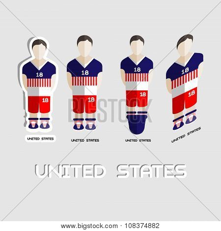 United States Soccer Team Sportswear Template