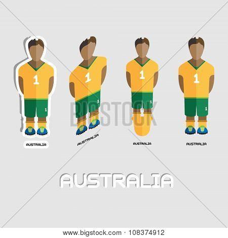Australia Soccer Team Sportswear Template