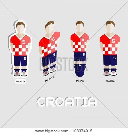 Croatia Soccer Team Sportswear Template