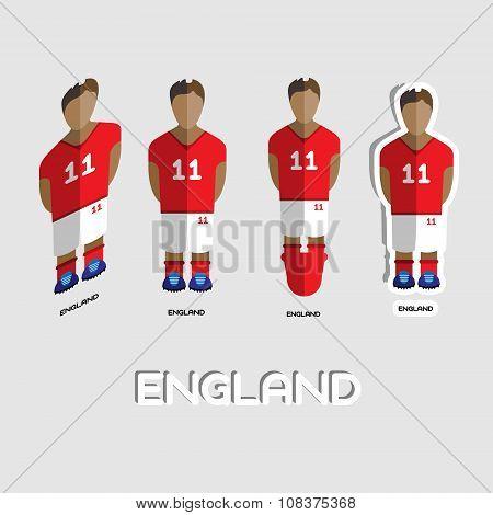 England Soccer Team Sportswear Template