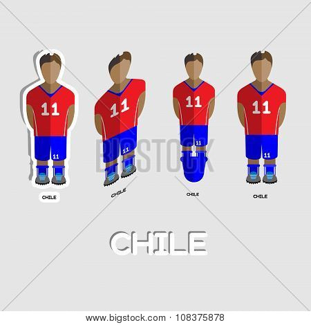 Chile Soccer Team Sportswear Template