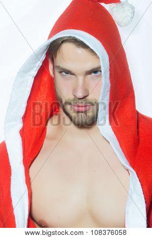 Muscular Christmas Man