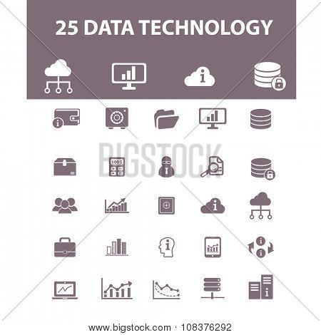 data, computer network, connection, hosting, database, pc  icons, signs vector concept set for infographics, mobile, website, application