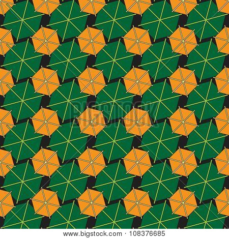Abstract Background Made From Hexagons