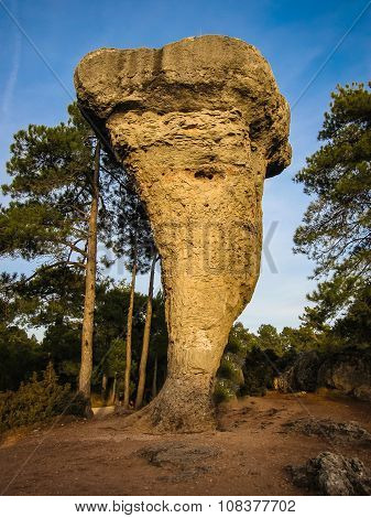 Unique Rock Formations In Enchanted City Of Cuenca, Castilla La Mancha, Spain