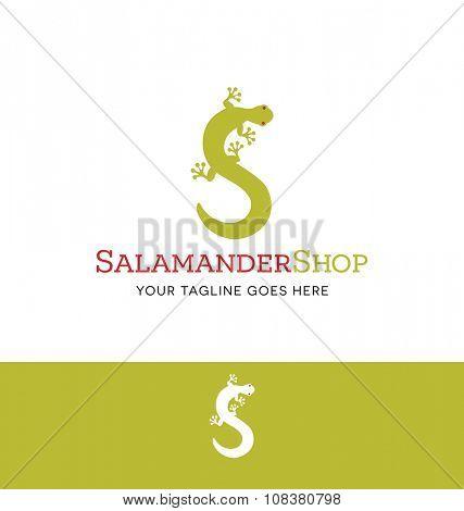salamander logo for creative business, shop or website