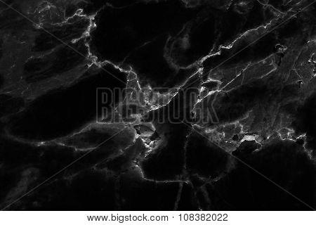 Black (dark) marble patterned (natural patterns) texture background.