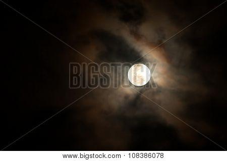 Full Moon Shining On The Sky