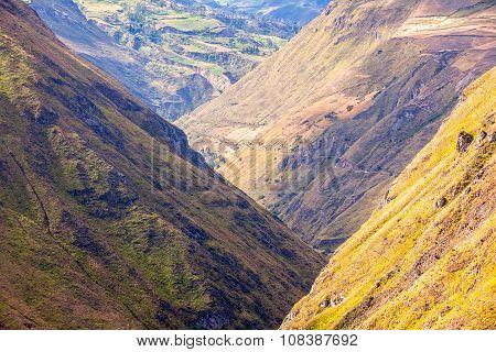 Nariz Del Diablo Through The Andes Mountains