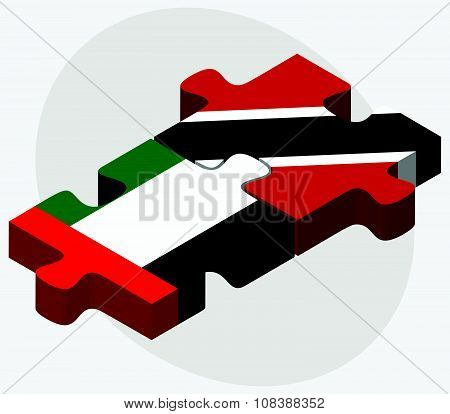 United Arab Emirates And Trinidad And Tobago Flags
