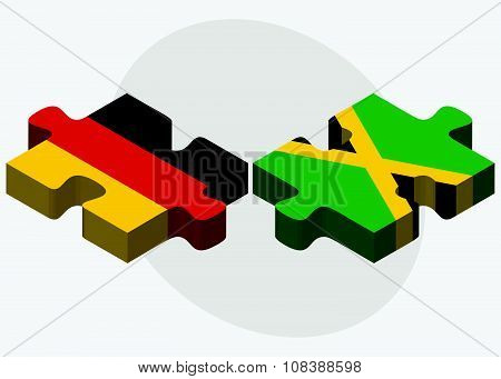 Germany And Jamaica Flags