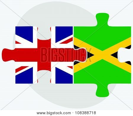 United Kingdom And Jamaica Flags