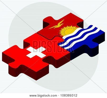 Switzerland And Kiribati Flags
