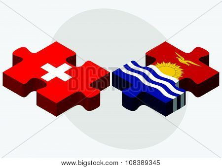 Switzerland And Kiribati Flags