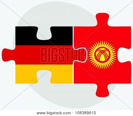 Germany And Kyrgyzstan Flags