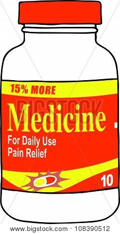 Pain Medication Bottle for when you Get Hurt on the Job or Have Back Pain or Even a Simple Headache.