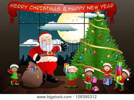 Santa Claus And His Elf