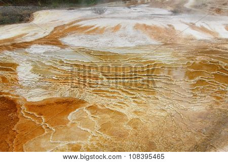 Mammoth Springs In Yellowstone