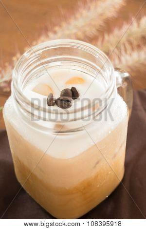 Fresh Iced Coffee With Milk