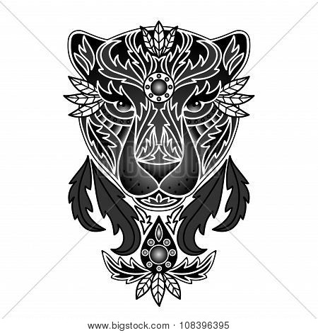 Ornamental Black Panther