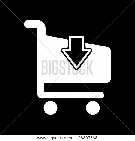 The cart shoping icon. Shop Cart symbol. Flat