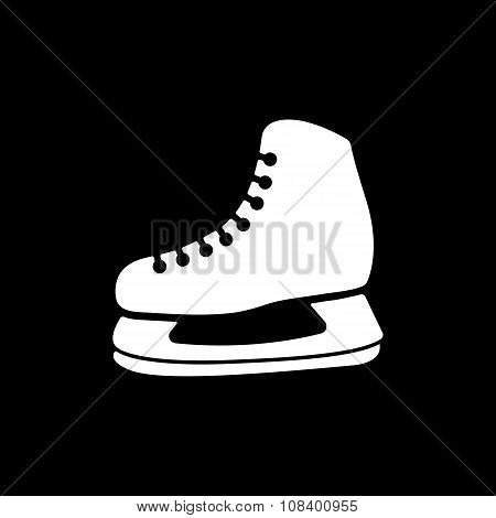 The skates icon. Hockey Skates symbol. Flat
