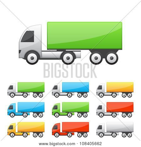 Set of truck icons