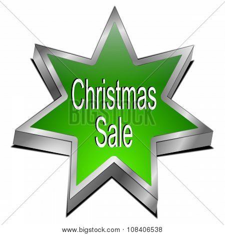Christmas Sale star button