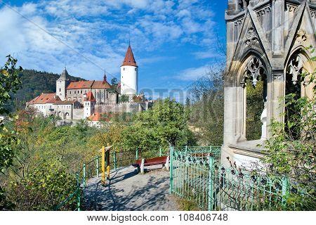 Medieval Royal Gothic Castle Krivoklat, Central Bohemia, Czech Republic